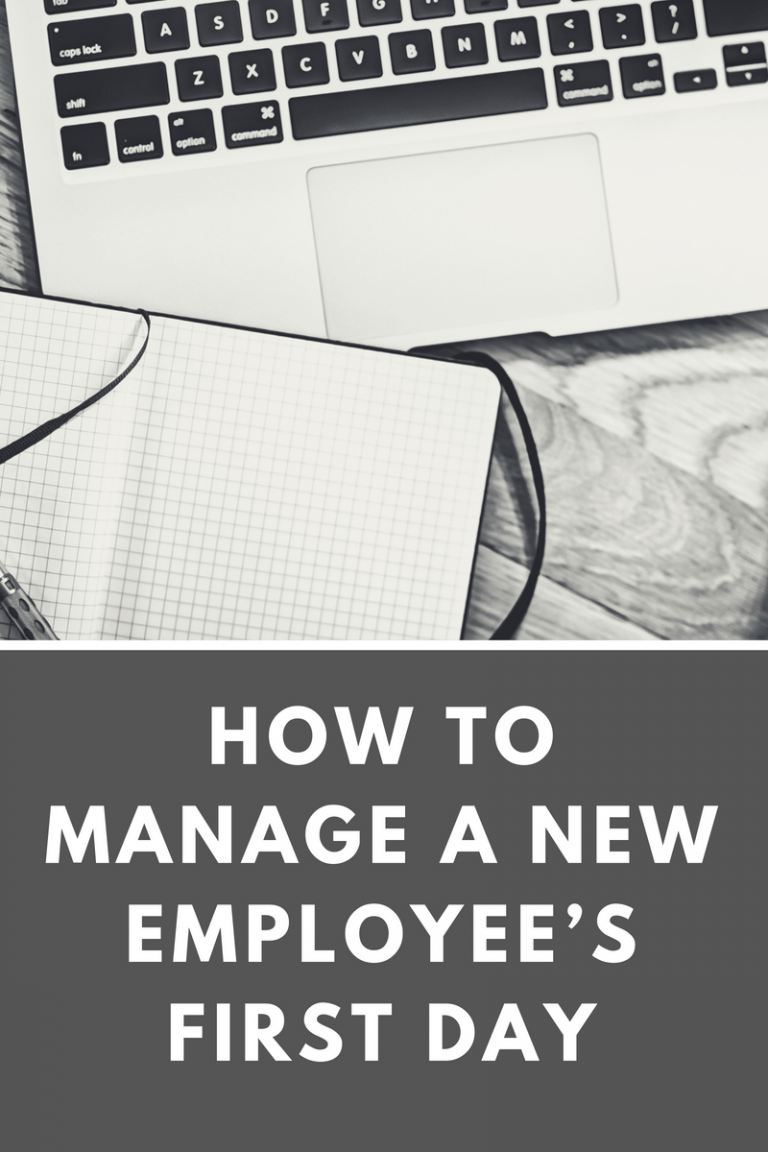 How to Manage a New Employee's First Day