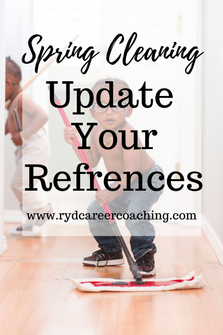 Spring Cleaning: Update Your References